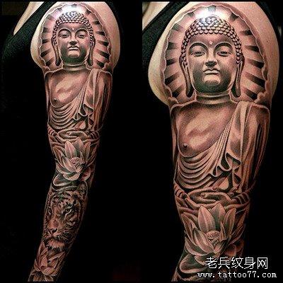花臂佛纹身图案由武汉纹身馆推荐图片
