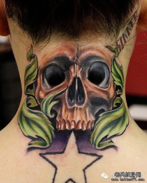 纹身 武汉/一组个性的脖子纹身图案大全由武汉纹身推荐