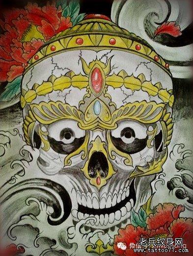 纹身图案 胳膊环状纹身手稿 > 手稿象神莲花纹身图案  手稿象神莲花