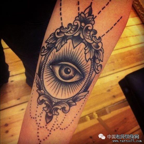 一组个性的上帝之眼纹身图案由武汉最好的纹身馆推荐图片