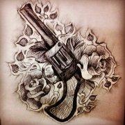 2014-08-03 19:58:21 一组樊花纹身图案由武汉纹身网提供 2014-08-03图片