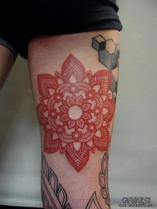 一组樊花纹身图案由武汉纹身网提供图片