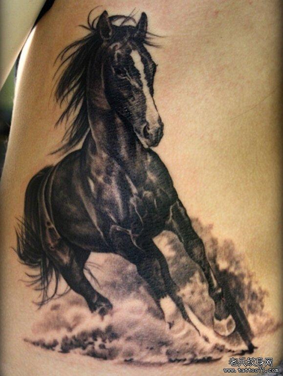 一组tattoo十二生肖の马纹身图案由武汉纹身提供