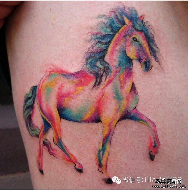 一组tattoo十二生肖の马纹_纹身图案图片