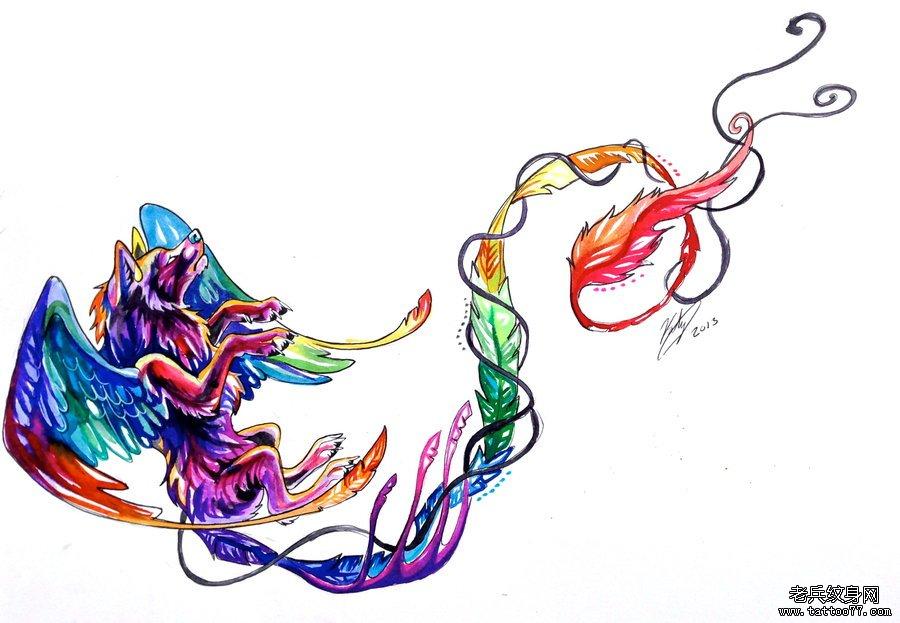 纹身 武汉/一组彩色水彩纹身图案由武汉纹身店推荐