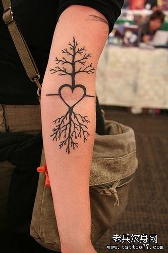 手臂树纹身图案大全