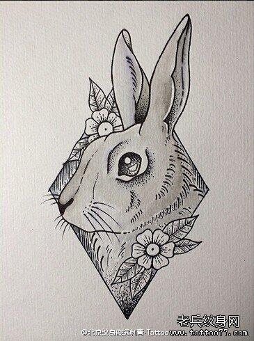 可爱小兔子铅笔画