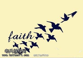 一组燕子纹身手稿图案由武汉纹身店提供