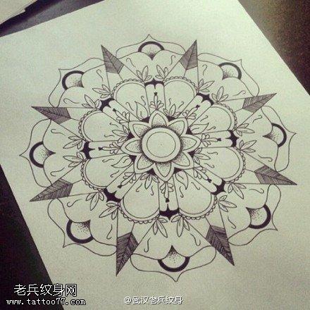 一组梵花纹身图案大全由武汉纹身提供