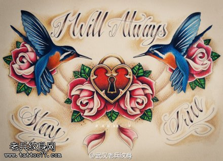 武汉最好的纹身提供一组燕子纹身手稿图案大全