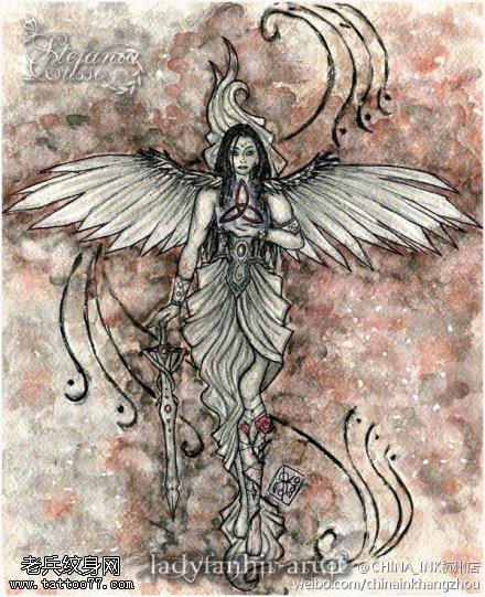 天使恶魔纹身手稿图片