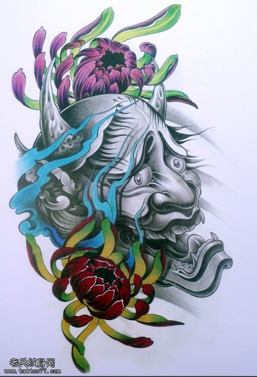 传统班诺纹身手稿内容图片分享