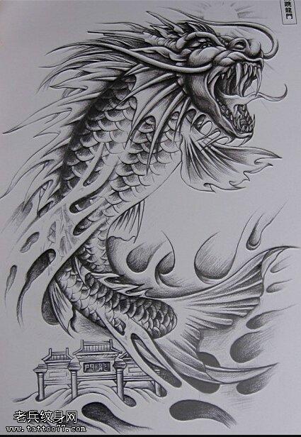 彩绘手持莲花手稿纹身图案
