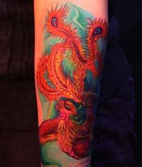 手臂凤凰纹身图案图片图片