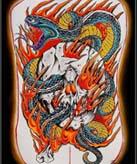 蛇纹身图案大全:满背蛇纹身图案图片