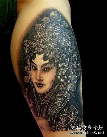 纹身图案大全 / 男人纹身图案大全 (346x445)-好看的花旦戏子纹身 图片