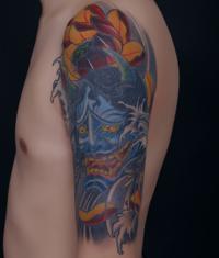 本店为来自安徽纹身爱好者打造的遮盖失败纹身--大臂