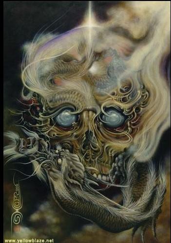 骷髅龙纹身图案