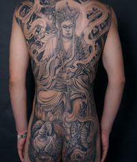 后背地藏王纹身图案—纹身作品大全—武汉纹身店之图片