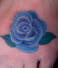 玫瑰花纹身图片作品图片