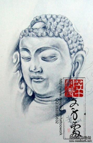 佛纹身图案大全:佛头佛像纹身图案纹身图片图片