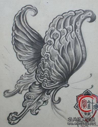 动物纹身图案大全:蝴蝶纹身图案纹身图片