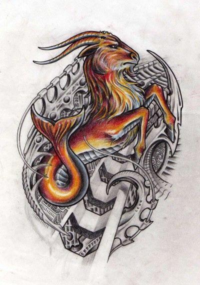 摩羯星座纹身图案的寓意以及含义