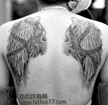 纹身图案大全 / 翅膀羽毛纹身图案大全