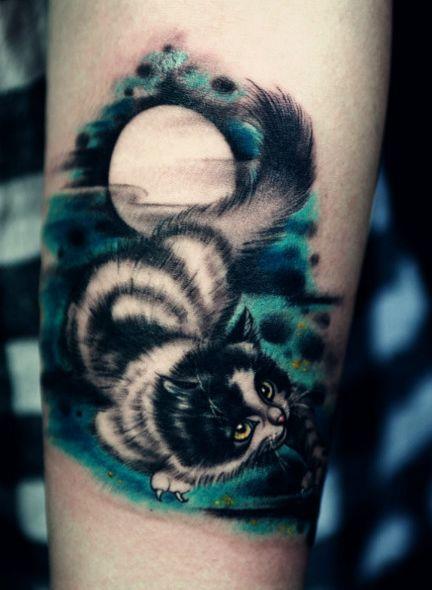 时尚可爱的小猫咪纹身图案