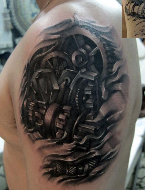 机械臂纹身图案